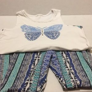 fabkids Other - Fab kids leggings along with a sleeveless shirt